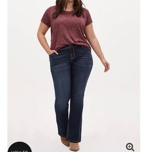 Luxe slimboot jeans, super stretch